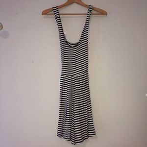Hollister Black and White Striped Romper